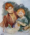 Woman And Child - Berthe Morisot