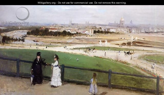 View of Paris from the Trocadero 1872 - Berthe Morisot