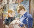 The Sewing Lesson Aka The Artists Daughter Julie With Her Nanny - Berthe Morisot