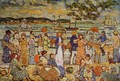 Along The Shore - Maurice Brazil Prendergast