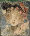 Head Of A Girl (with Roses) - Maurice Brazil Prendergast