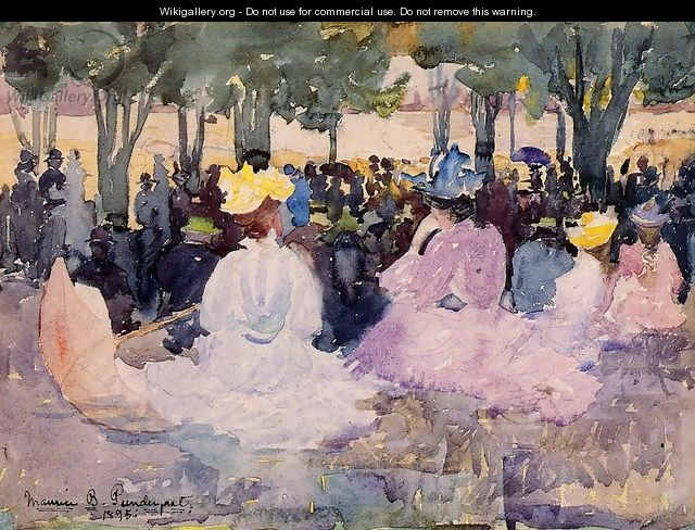 Figures On The Grass - Maurice Brazil Prendergast