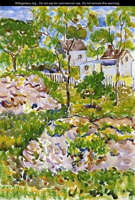 Farmhouse In New England - Maurice Brazil Prendergast