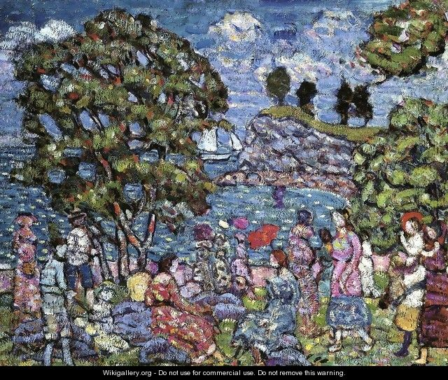 Cove With Figures - Maurice Brazil Prendergast