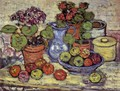 Cinerarias And Fruit - Maurice Brazil Prendergast