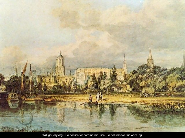 South View Of Christ Church Etc From The Meadows - Joseph Mallord William Turner