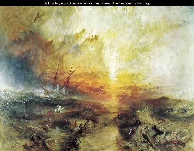 Slavers Throwing Overboard The Dead And Dying Typhoon Coming On - Joseph Mallord William Turner
