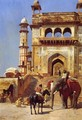 Before A Mosque - Edwin Lord Weeks