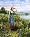 A Field Of Flowers - Daniel Ridgway Knight