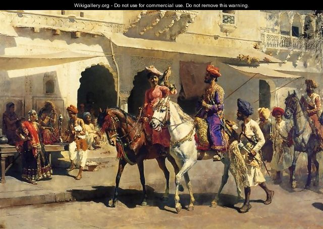 Leaving For The Hunt At Gwalior - Edwin Lord Weeks