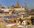 Feeding The Sacred Pigeons Jaipur - Edwin Lord Weeks