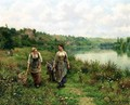 The Seine At Vernon - Daniel Ridgway Knight