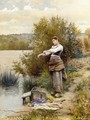 The Laundress - Daniel Ridgway Knight