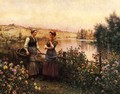 Stopping For Conversation - Daniel Ridgway Knight