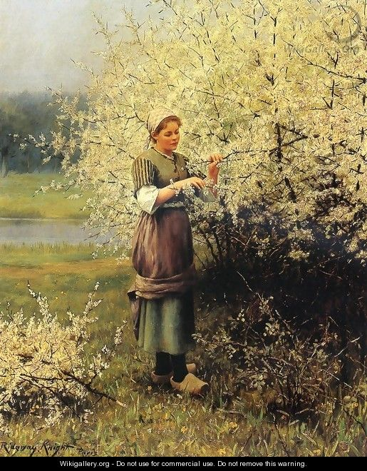 Spring Blossoms - Daniel Ridgway Knight