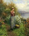 Julia On The Terrace - Daniel Ridgway Knight