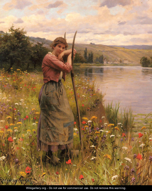 A Moment Of Rest - Daniel Ridgway Knight