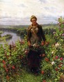 A Maid In Her Garden - Daniel Ridgway Knight