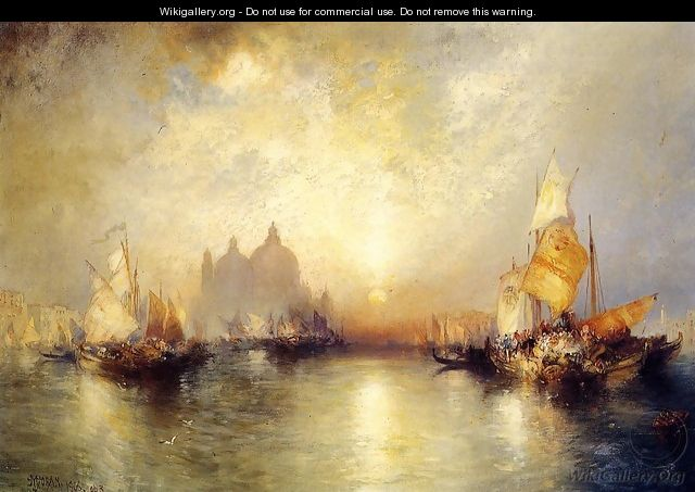 Entrance To The Grand Canal Venice - Thomas Moran