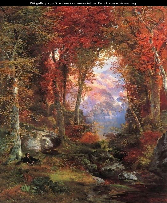The Autumnal Woods (Under The Trees) - Thomas Moran