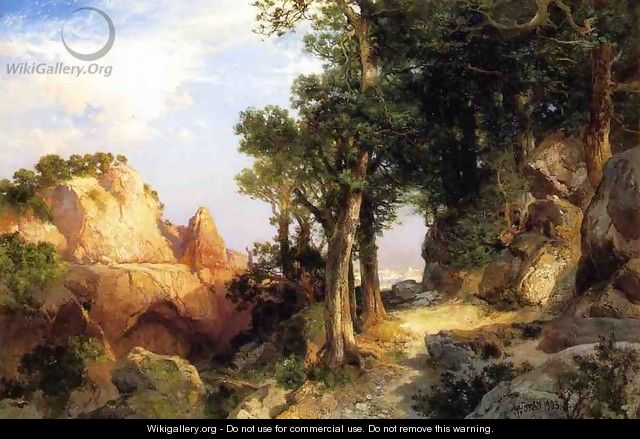 On The Berry Trail Grand Canyon Of Arizona - Thomas Moran