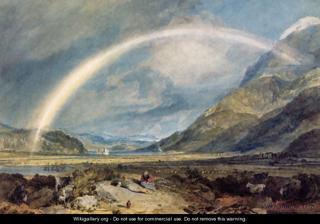 Kilchern Castle With The Cruchan Ben Mountains Scotland Noon - Joseph Mallord William Turner