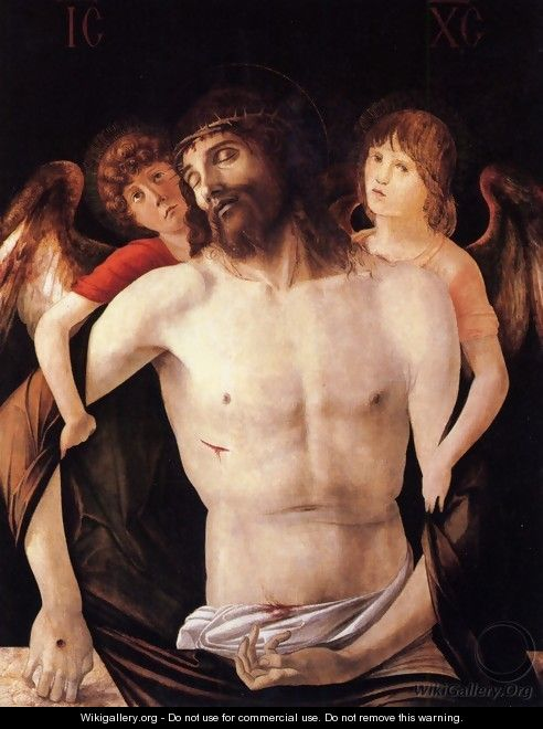 The Dead Christ Supported By Two Angels - Giovanni Bellini