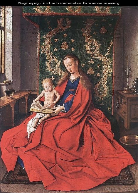 Madonna with the Child Reading 1433 - Jan Van Eyck