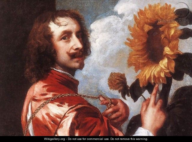 Self-portrait with a Sunflower c. 1632 - Sir Anthony Van Dyck