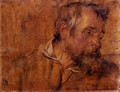 Profile Study Of A Bearded Old Man - Sir Anthony Van Dyck