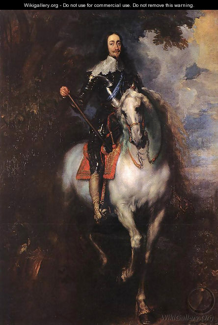 Equestrian Portrait of Charles I, King of England 1635-40 - Sir Anthony Van Dyck