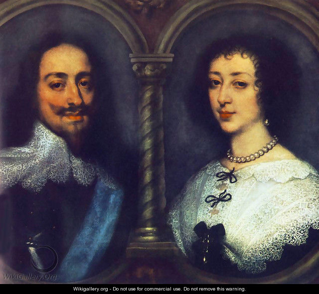 Charles I Of England And Henrietta Of France - Sir Anthony Van Dyck