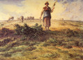 A Shepherdess And Her Flock - Jean-Francois Millet