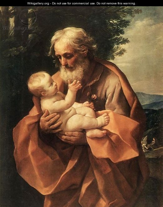 St Joseph with the Infant Jesus c. 1635 - Guido Reni