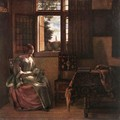 Woman Reading a Letter 1664 - Pieter De Hooch