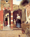 The Courtyard of a House in Delft 1658 - Pieter De Hooch