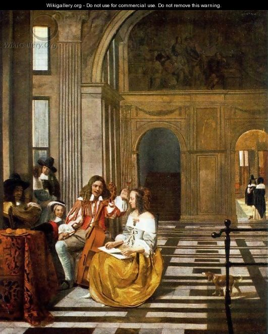 Company Making Music - Pieter De Hooch