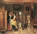 At the Linen Closet 1665 - Pieter De Hooch