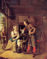 A Man Offering A Glass Of Wine To A Woman - Pieter De Hooch