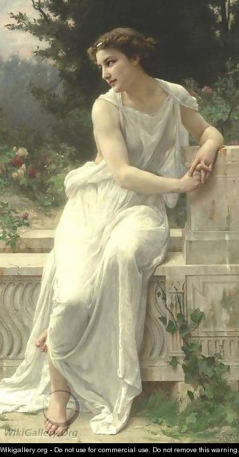 Young Woman Of Pompeii On A Terrace - Guillaume Seignac
