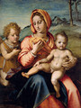 Madonna And Child With The Infant Saint John In A Landscape - Andrea Del Sarto