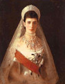 Portrait Of The Empress Maria Feodorovna - Ivan Nikolaevich Kramskoy