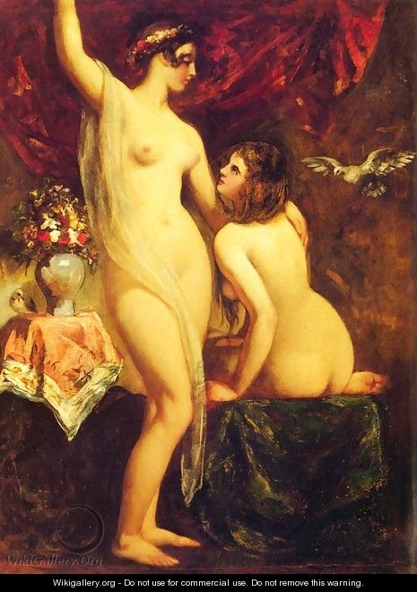 Two Nudes In An Interior - William Etty