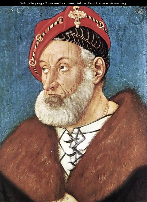 Count Christoph I Of Baden 1515 - Hans Baldung Grien