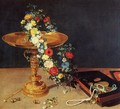 Still-Life with Garland of Flowers and Golden Tazza 1618 - Jan The Elder Brueghel