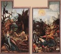Visit of St Antony to St Paul and Temptation of St Antony c. 1515 - Matthias Grunewald (Mathis Gothardt)