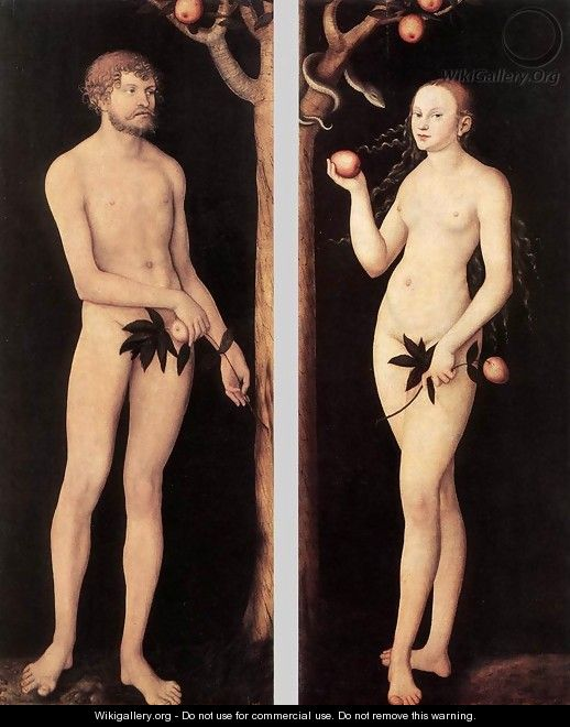 Adam and Eve 1531 - Lucas The Elder Cranach
