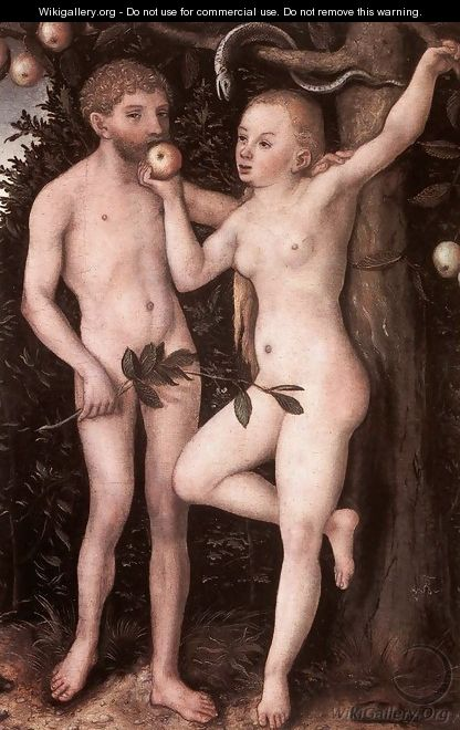 Adam and Eve c. 1538 - Lucas The Elder Cranach
