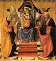 Madonna and Child Enthroned with Saints c. 1479 - Domenico Ghirlandaio