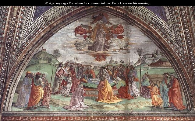 Death And Assumption Of The Virgin - Domenico Ghirlandaio